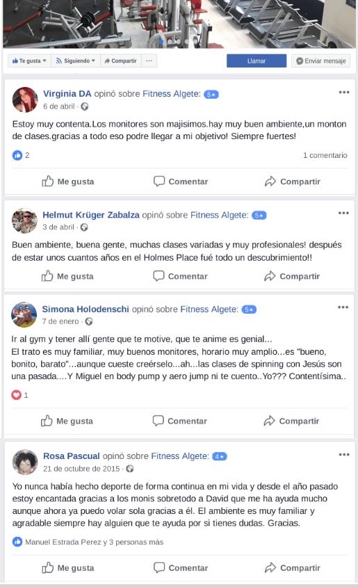 reseñas buenas de facebook